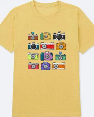 Camiseta Áltage – Estampa de Câmeras